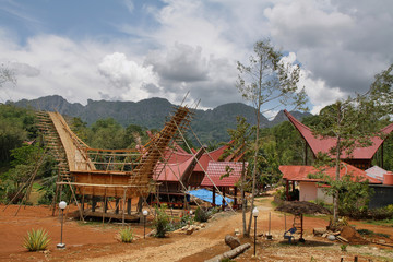 Traditional houses in Toraja Province