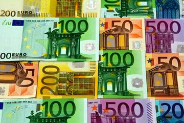 Verschiedene Euroscheine, Reisekasse