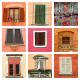 lovely colorful old windows collage