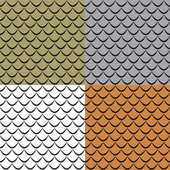 Fish scales seamless pattern (color options)