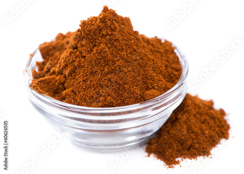 Bowl with Paprika Powder (on white)