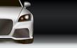 Modern Car. Dark background with copy space