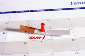 Resolution quit smoking on Calendar