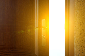 Open door with light outside