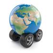 Globe on wheels