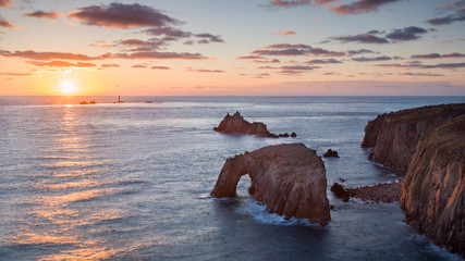 Sunset at Land End Cornwall England