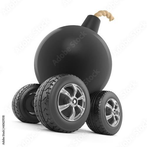 Bomb monster truck