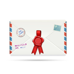 Old-fashioned Airmail Envelope With Seal.