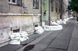 Sandbags at the flood - 60629924