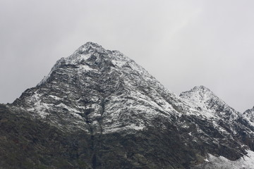 Aiquille with snow