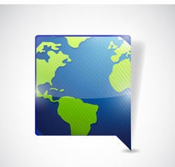 world map speech bubble. illustration design