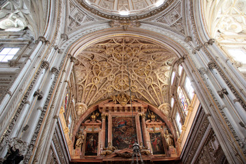 Detalle presbiterio y bóveda Mezquita