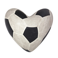 heart shape soccer football love fanclub sport game