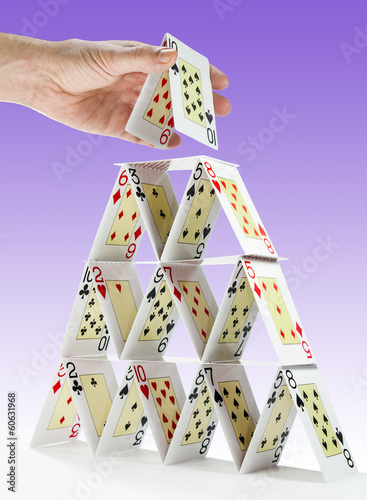 Completing a house of cards