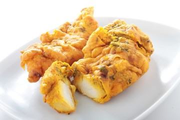 Indian chicken pakora on plate