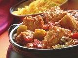 Indian Handi curry with pilau rice