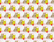 Cat love seamless pattern