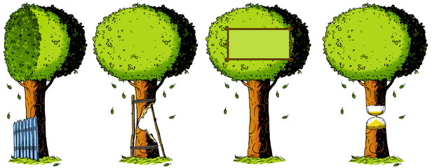 ecology, nature, tree, illustration, drawing, metaphor