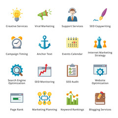 SEO & Internet Marketing Flat Icons - Set 5