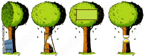 ecology, nature, tree, illustration, drawing, metaphor
