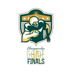 American Football Championship Game Finals QB