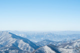 a beautiful scenery in dragon peak above yongpyong resort