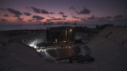 Ceaserea amphitheatre sunset stage