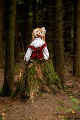 Puppet on a tree stump