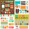 Collection of many cute scrapbook elements