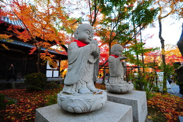Carved Stone buddha statue , Zen , Japan