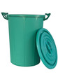 plastic recycle rough skin green recycle bin isolated - 60633905