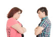 Isolated couple angry at each other
