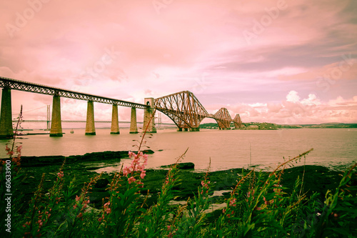 Forth railway bridge near Edinburgh,