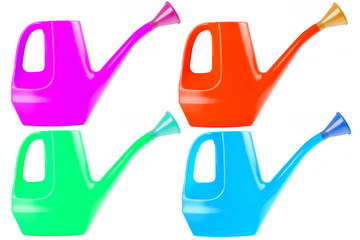 Watering can color collection set