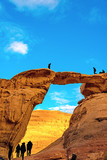 Jabal Umm Fruth Bridge in Wadi Rum, Jordan.