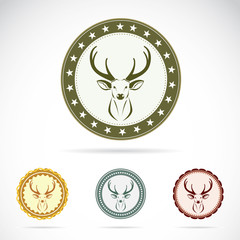 Set of vector deer label