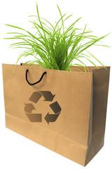 sac papier recyclable, écologie, environnement