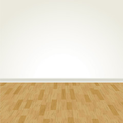 Vector Hardwood Floor and Blank Wall