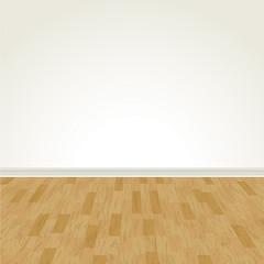 Vector Hardwood Floor and Blank Wall