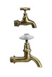 Brass tap  on White Background