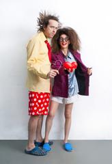 Funny loving couple
