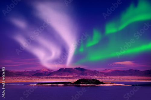 Fotobehang Landschap aurora borealis