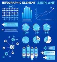 Infographics elements airplane