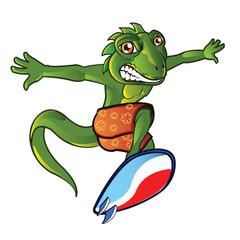 Surfing Lizard Mascot