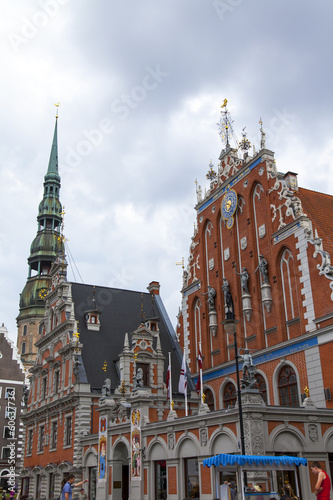 Riga, Latvia. House of Blackheads - XIV century architectural mo