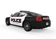 Police Car Isolated