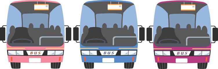 大型バス正面バリエーション