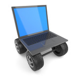 Laptop on wheels