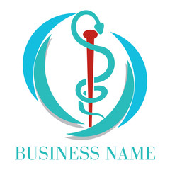 Caduceus medical logo
