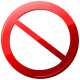 icon sign forbidden Vector
